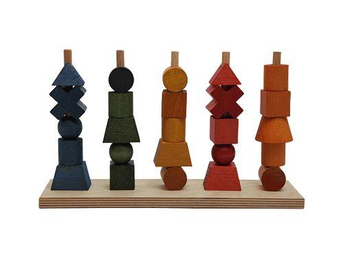 Układanki : Układanka płotek kolorowa