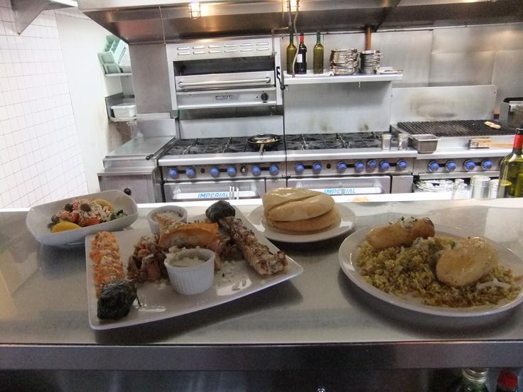Every thursday we offer our Paros Platter for 2 for $27 A platter of chicken souvlaki, prawn souvlaki, dolmades, kalamari, spanakopita, tzatziki, pita, rice and potato AND greek salad.