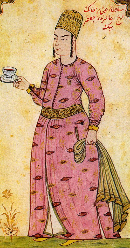 Minyatür: (Topkap Sarayı Saray Hizmetlisi (Levni)