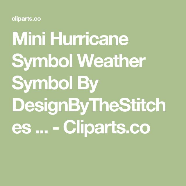 Mini Hurricane Symbol Weather Symbol By DesignByTheStitches ... - Cliparts.co