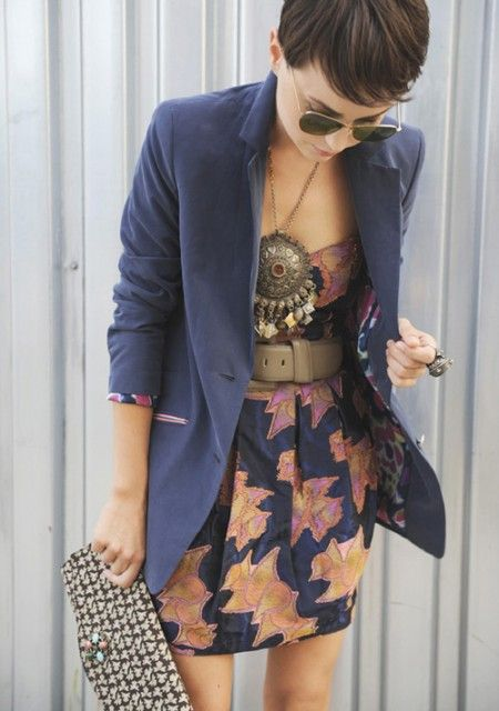 spring: Fashion, Style, Statement Necklace, Clothes, Outfit, Dresses, Blazers, Hair