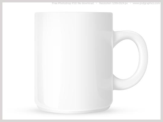 free psd white coffee mug template mug with space for text and logo 1280 x 1024 px psd. Black Bedroom Furniture Sets. Home Design Ideas