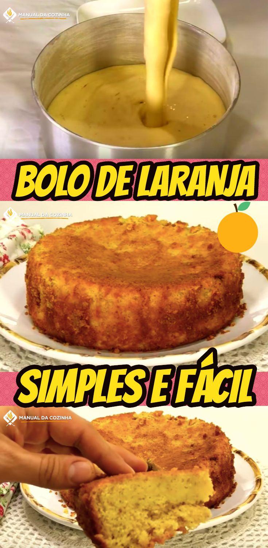 BOLO DE LARANJA PERFEITO PARA SEU CAFÉ DA TARDE - SIMPLES E RÁPIDO #sobremesa #bolo #torta #receita #doces #comida #chocolate #alexgranig #aguanaboca #manualdacozinha