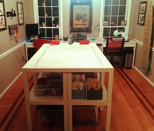 108 best sewing room images on pinterest craft rooms for Sewing room furniture