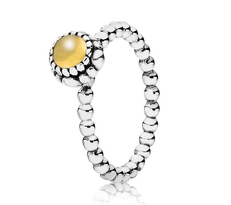 Pandora Silver & Citrine November Birthstone Ring for Lennox to go with my Decemeber one for Justin