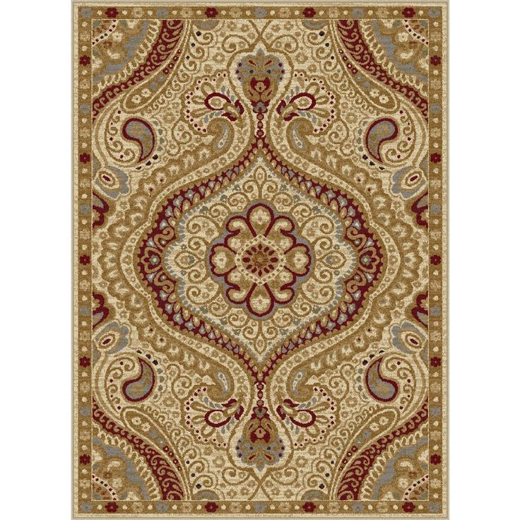 This rectangle rug perfectly exemplifies transitional designs and will give any home a welcoming and stylish accent. Showcasing a paisley pattern with ivory and black shades, this rug is sure to please.