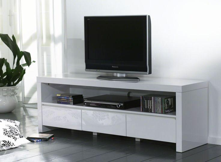 TV-skrinka  Rozmery: 150x40cm  Výška: 50cm  Material: Vysoký lesk - Lak  TV-skrinky vysoký lesk  Nábytok s vysokým leskom, je k dispozícií vo farbách biela, červená a čierna, tiež v kombinácií s nerez ocelov. Šírka je upravená pre aktuálnu veľkosť Vašej obrazovky. Hĺbka je optimálna pre