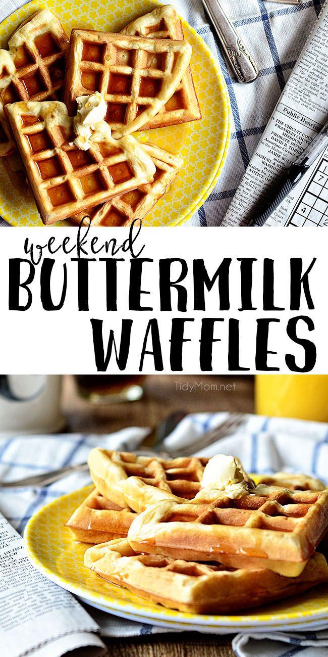 Weekend Buttermilk Waffles Recipe Buttermilk Waffles Food Food Recipes