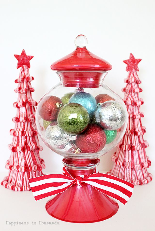 Gumball Machine Christmas Ornament Display