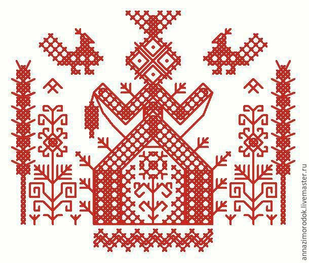"""Делаем мандалу из ниток в виде славянского оберега рукодельниц """"Макошь"""" - Ярмарка Мастеров - ручная работа, handmade"""