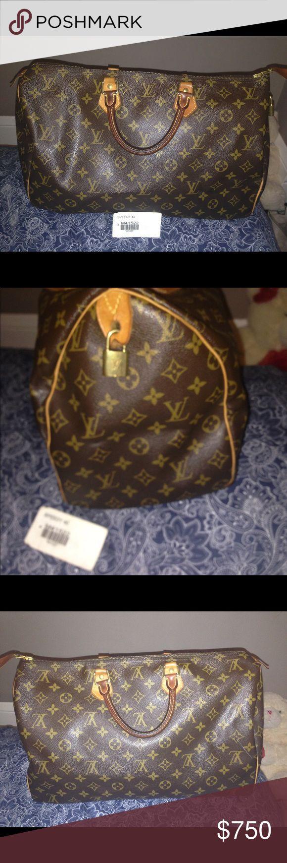 Louis Vuitton Speedy Bag 40 Louis Vuitton Bags Totes