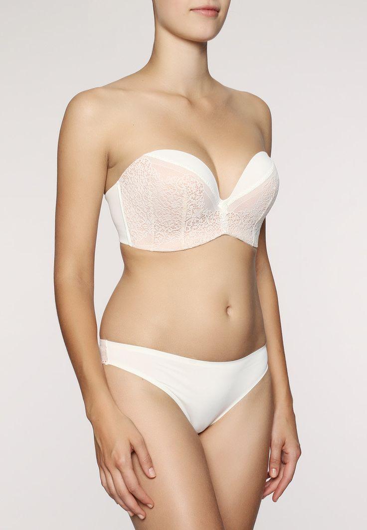 Wonderbra - Perfect Strapless Lace - Trägerloser BH - Ivory Nude | enamora.de