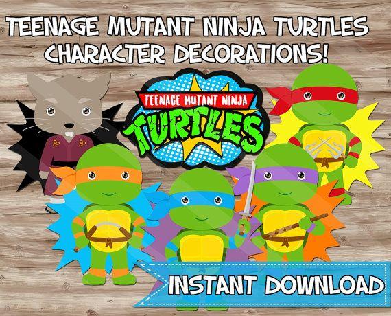 Teenage Mutant Ninja Turtles Party Decorations por KawaiiKidsDesign