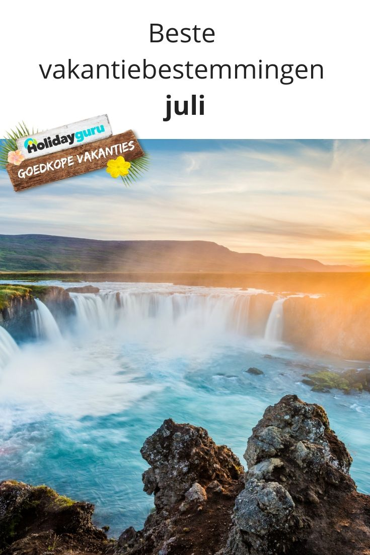 vakantiebestemmingen juli