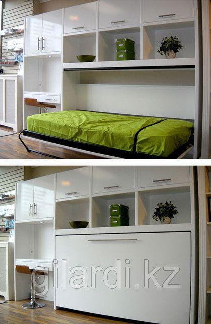 Шкаф кровать горизонтальная (спальное место 1,4х2м), фото 3