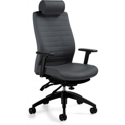 Global Aspen 3 High back ergonomic chair with headrest Available for online purchase