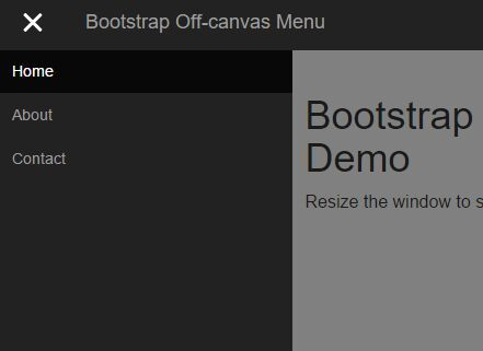 A lightweight jQuery plugin that convert the default Bootstrap nav bar component into an off-canvas style push menu in mobile view.