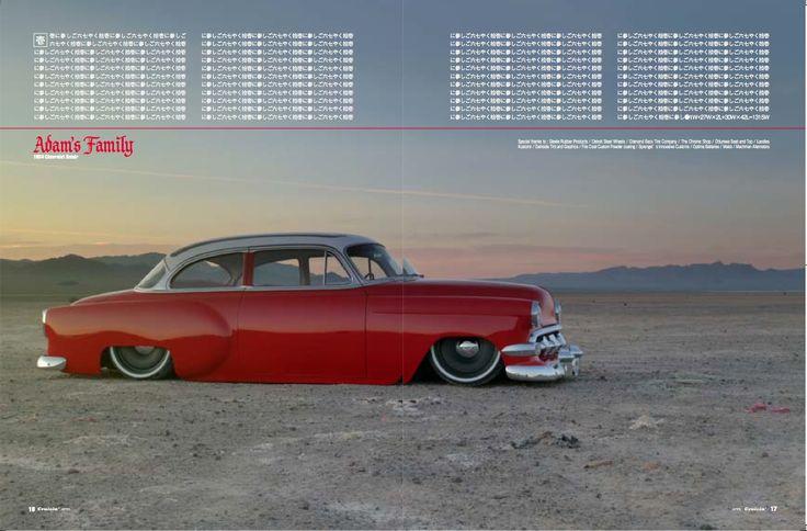"1954 Chevrolet With 20"" Steelies (Detroit Steel Wheels) (Laodies Kustomz) (Steele Rubber Products) (SEMA 2012) (johnnyophoto.com)"