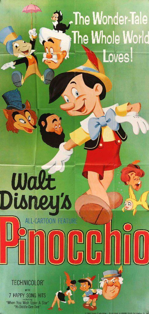 Pinocchio (1940) #1940 #1940s #3-sheet