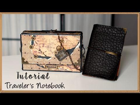 En este vídeo muestro un proyecto muy masculino, una maleta y un Traveler's Notebook realizado con polipiel. El tutorial de la maleta lo subiré en los próxim...