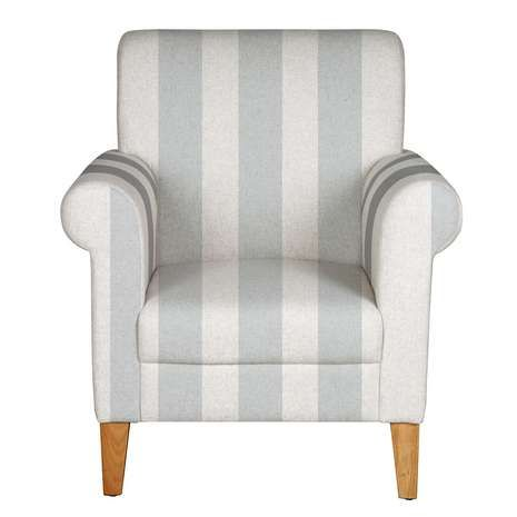 Valencia Grey Stripe Armchair