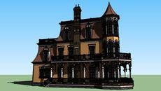 3D модель дома в викторианском стиле