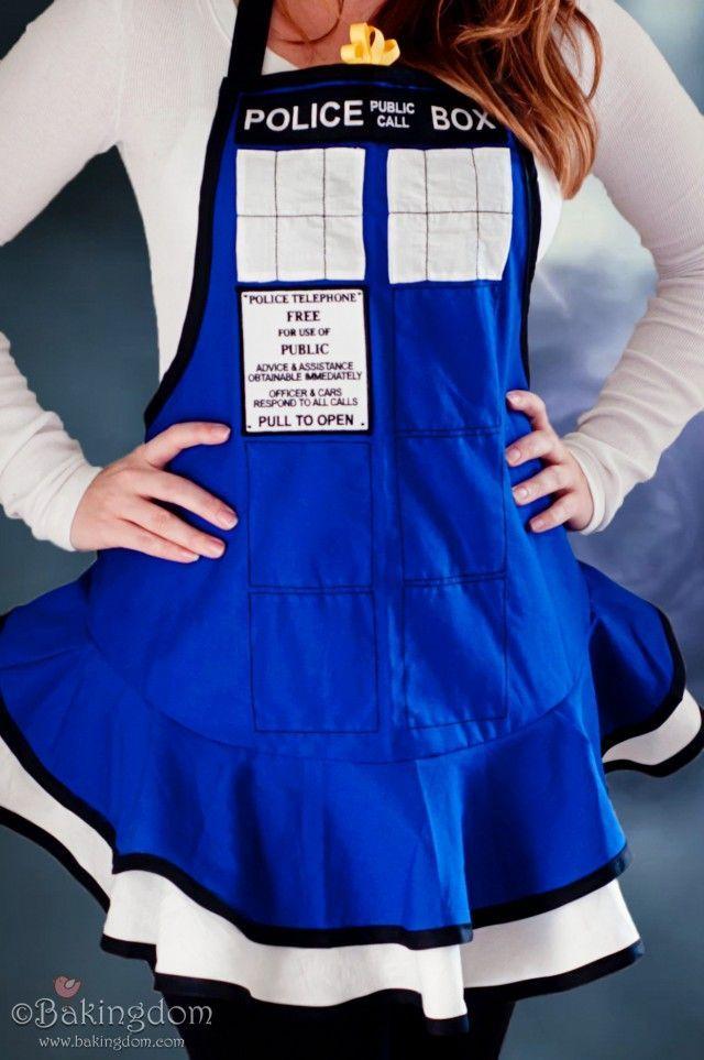 Handmade Doctor Who TARDIS Apron and Doctor Who Cookies - Bakingdom