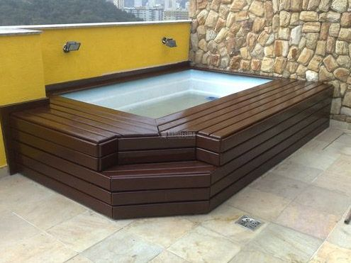 61 best jacuzzi exterior images on pinterest tipos de for Jacuzzi piscina exterior