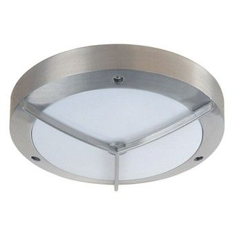 External Flush Chrome and Opal Complete Outdoor Garden Light with Ballast