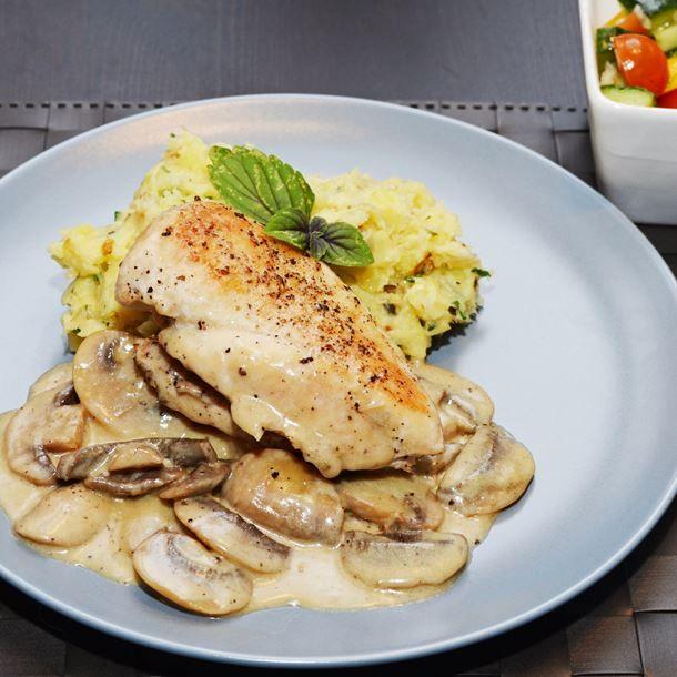 Blancs de poulet, sauce suprême