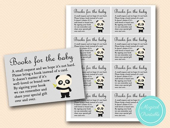 Books for the baby insert bring a book insert by MagicalPrintable