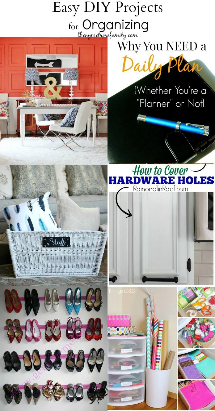 Easy DIY Projects for Organizing Tips and Tricks!