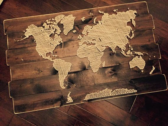 world map string art string art. Black Bedroom Furniture Sets. Home Design Ideas
