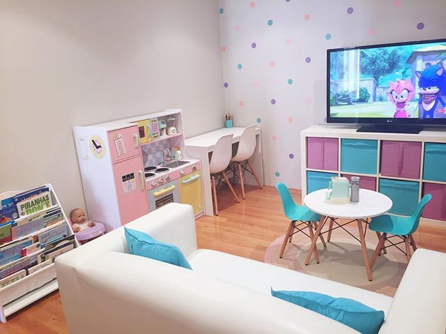 The kids' playroom got a little Christmas sprucing, thanks to Kmart (Kmart desk, chairs, table, wall stickers, rug & appliance set)