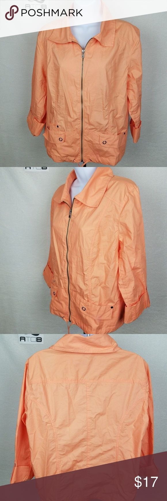 Chico's Womens Jacket Size 2 (Large)Active Light Chico's Womens Jacket Size 2 (Large)Active Light Orange - C9 Chico's Jackets & Coats