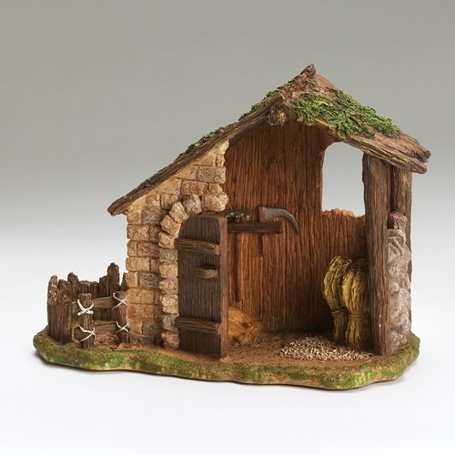 Fontanini 10 Farmshed For 5 Scale Nativity
