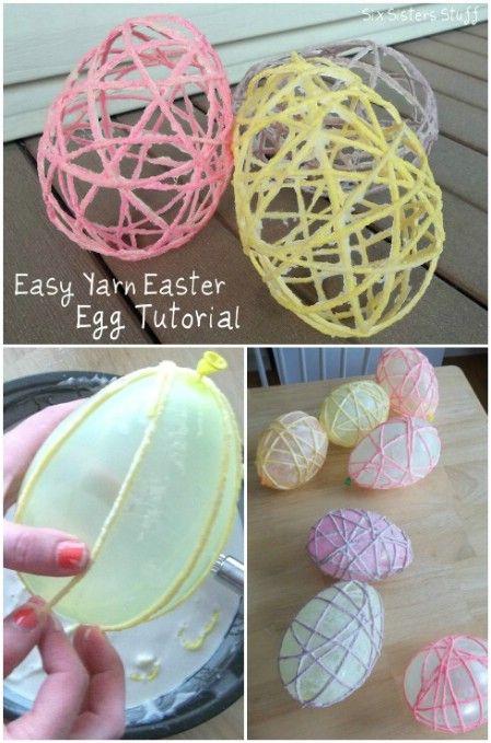 Yarn Easter egg