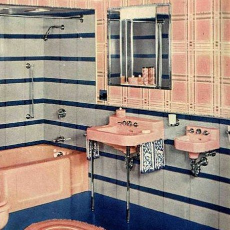 Beautiful 1940s Bathroom Back In The Day, Sink Manufacturers Tried To Promote A  Smaller U201c Part 24