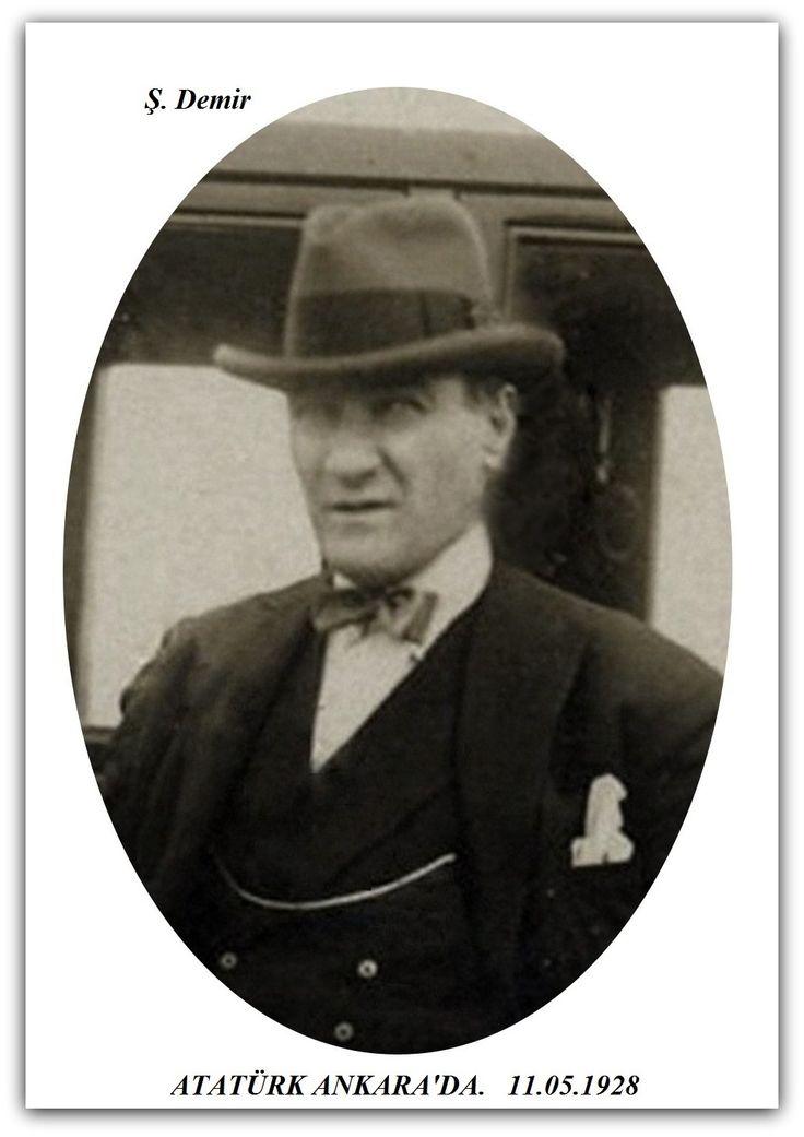 Atatürk Ankara'da. 11.05.1928