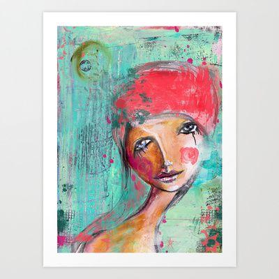 Tears makes you stronger Art Print by SannArt - $17.68