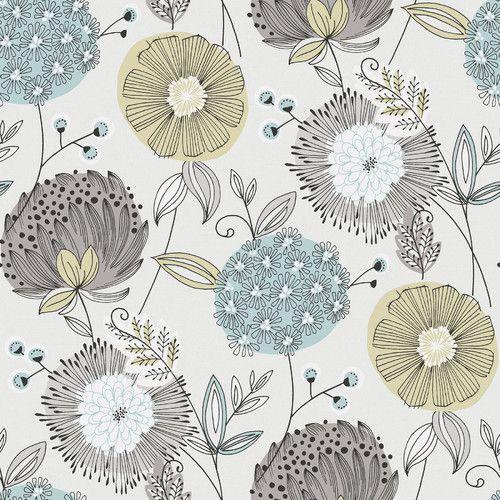 die besten 25 modern floral wallpaper ideen auf pinterest. Black Bedroom Furniture Sets. Home Design Ideas