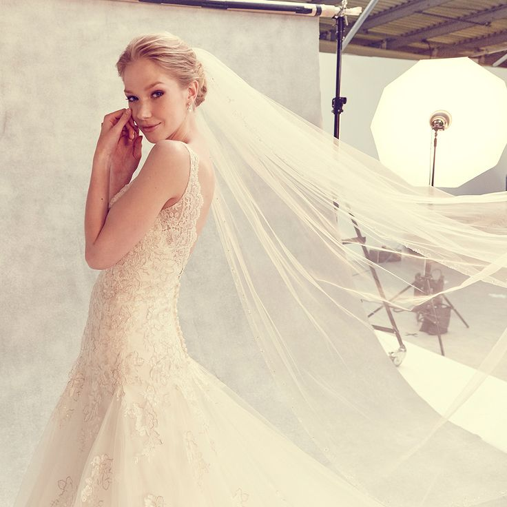 This classic fit and flare wedding dress 'Daria' by Anna Sorrano is a dream