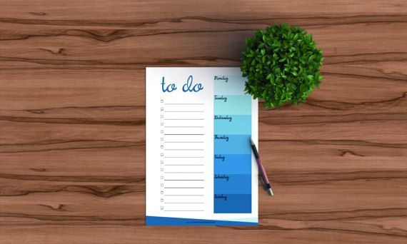 Printable weekly to do list for your planner in by FindingNorth