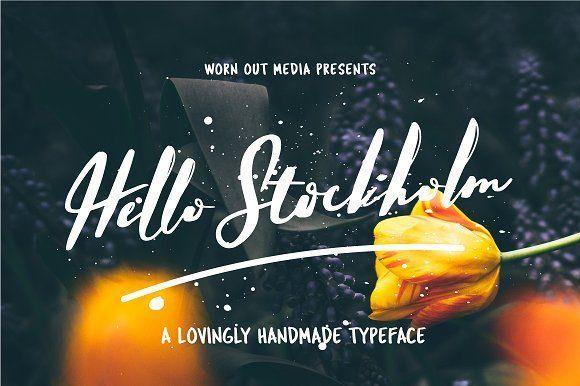 Hello Stockholm - Handmade Typeface by WornOutMedia Co. on @creativemarket