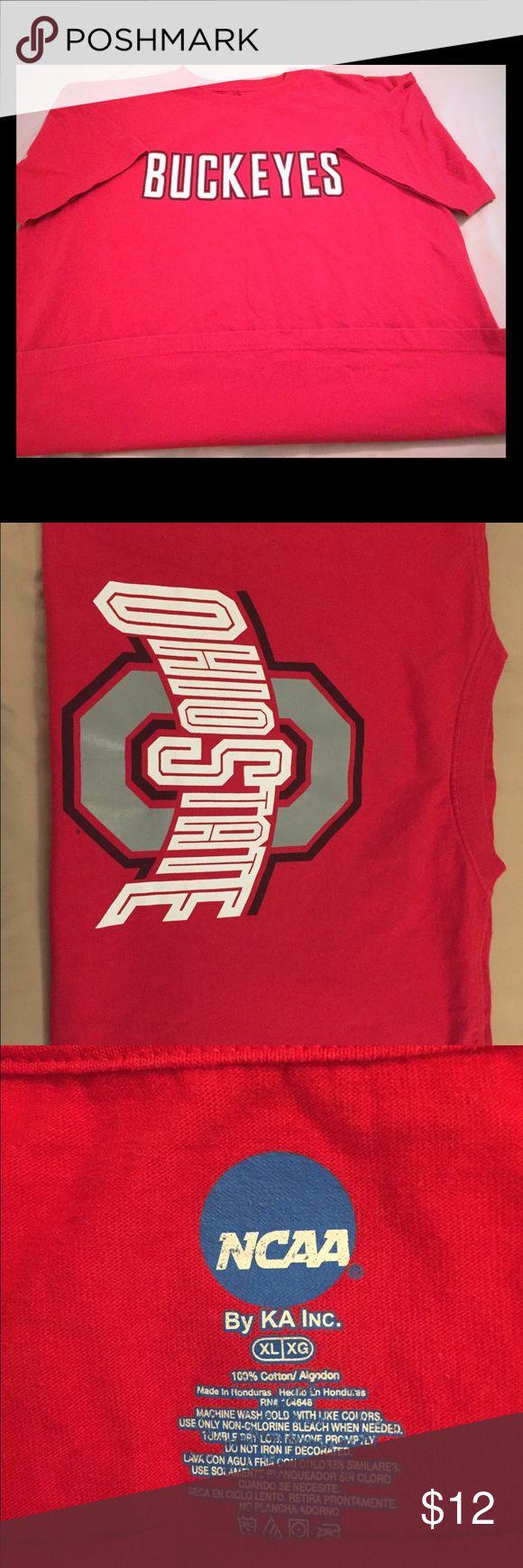 Men's NCAA Ohio State Buckeyes Red T-Shirt XL NCAA / Ohio State Buckeyes / X-L / Good condition! NCAA Shirts Tees - Short Sleeve