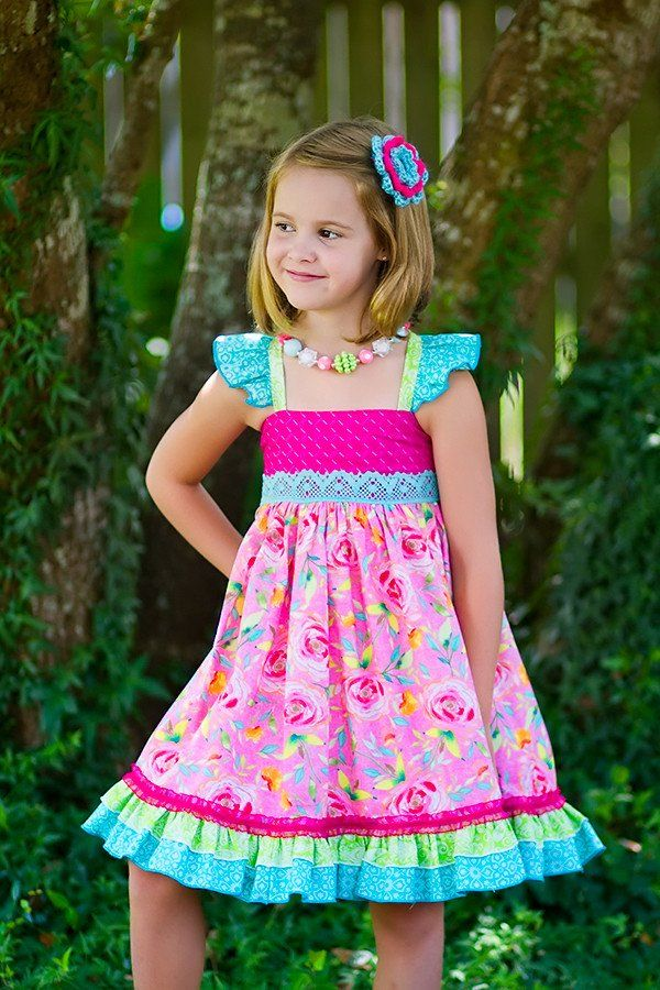 Wild Rose Dress - Kinder Kouture Boutique Clothing - 1