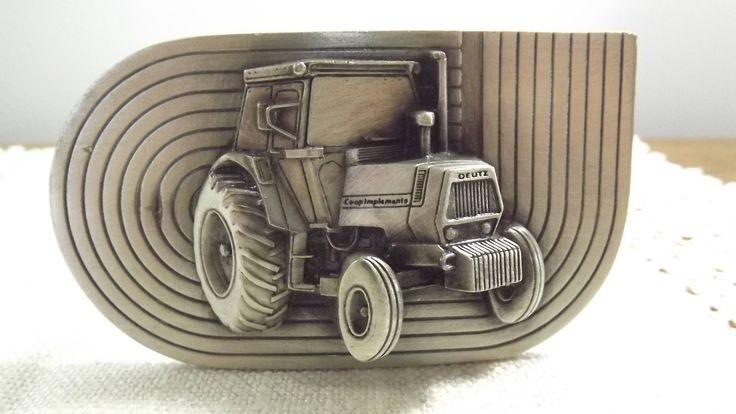Vintage 3D Tractor Belt Buckle, Co-op Implements Deutz Tractor, Gift Idea for Farmer/Cowboy, Agriculture Sector Collectible by OutrageousVintagious on Etsy