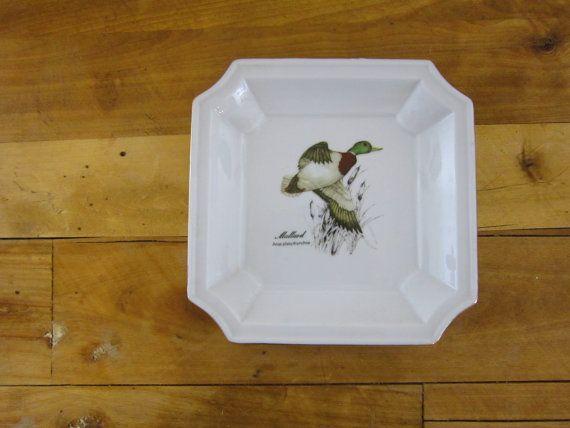 Vintage Otagiri Duck Plate Square Mallard by FoxLaneVintage, $15.00