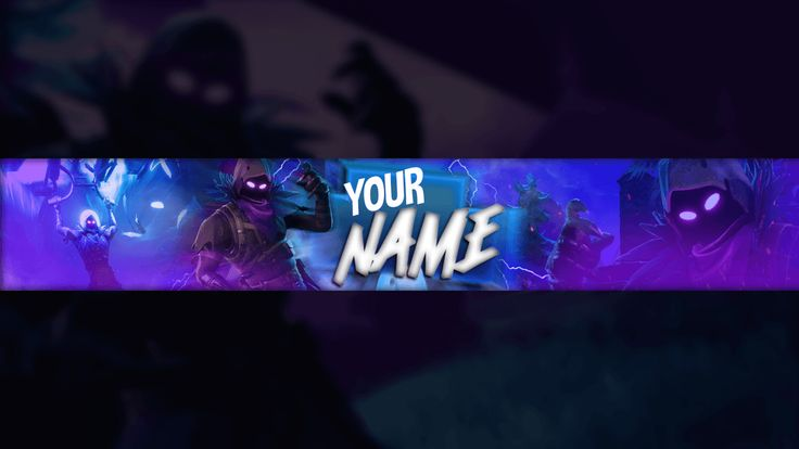 FORTNİTE YOUTUBE BANNER FREE PSD DOWNLOAD #4
