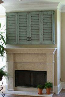 Shutter door tv cabinet - mediterranean - media storage - jacksonville - by Paravan Wood Design